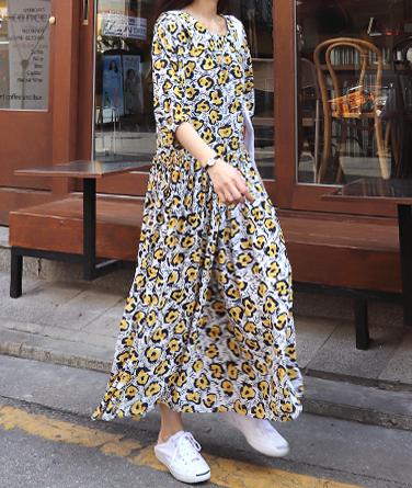 플라비 플로럴 드레스 (2col)